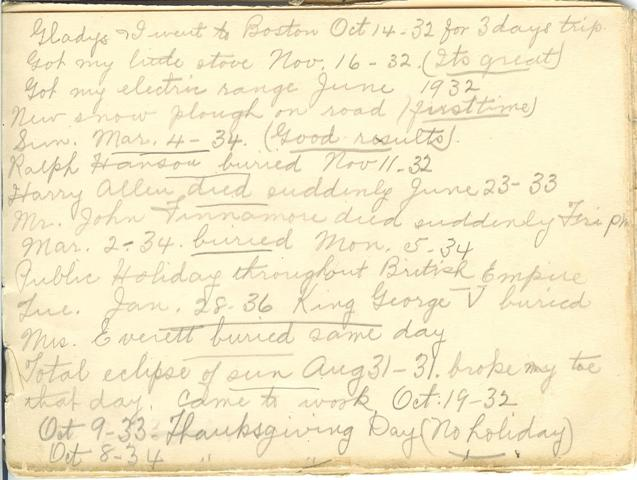 Jennie Pike's Date Diary (1932-1940) - Page 5