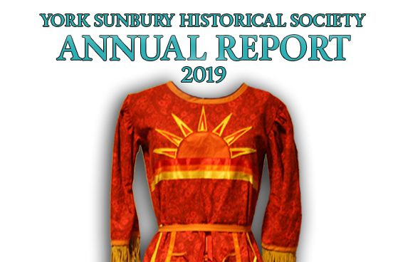 York Sunbury Historical Society Annual Report 2019